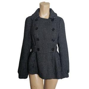 Charlotte russe Pea coat polka dot size M